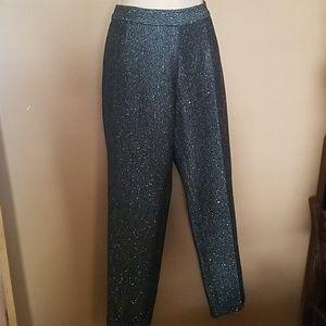NWT Side Zip Dressy Slim Ankle Wool Lined Pants 4